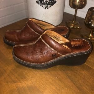 Born Classic Brown Leather Clog Mule 7